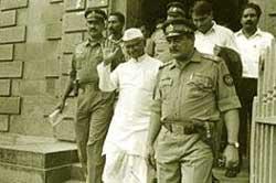 Anna Hazare behind bars