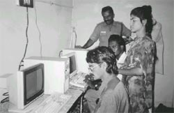 Computer classes for the resi (Credit: S V Viswanathan)