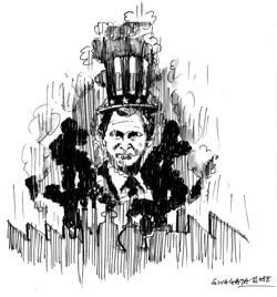 Bush discards green