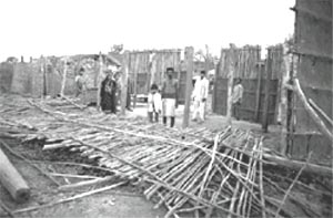 The demolished houses in Dewas