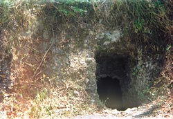 The entrance to a khatri cave< (Credit: R V Singh / CSE)