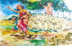 Bold strokes of pain - children depict the Muthanga episode