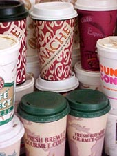 Disposable cups could soon cos