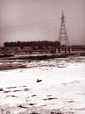 Yamuna chokes on untreated sew (Credit: Surya Sen / CSE)
