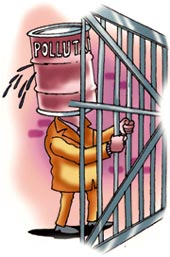 Polluter lands behind bars