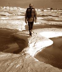 On thin ice (Credit: Washington University)