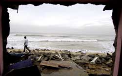 A breach in coastal protection