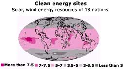 Renewables map