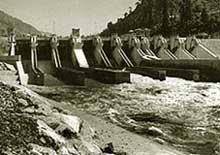 Barriers to Kishanganga dam ab