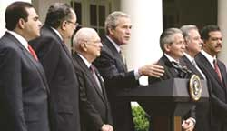 Bush push for CAFTA