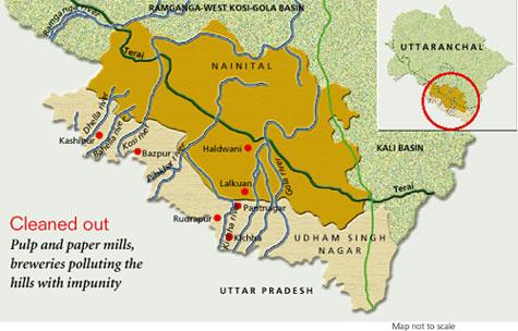Mills pollute Uttaranchal hills