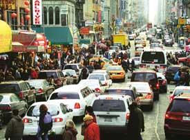 Dense traffic causes social alienation