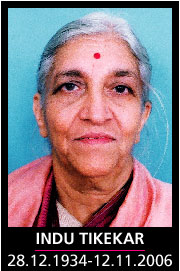 Gandhian social worker Indu Tikekar passes away