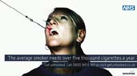 Anti-smoking ad in the UK, ahead of ban on public smoking