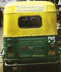 Auto rickshaws used for advertising
