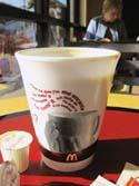 McDonalds' UK promotes sustainable coffee