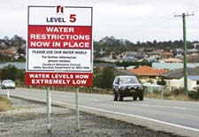 Tighter restrictions on Australia's water usage