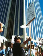 Protest at PacifiCorp headquar (Credit: INDYMEDIA)