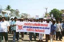 Tamil Nadu villagers protest landfill