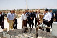 Officials inspect the faulty w (Credit: PETRA NEWS AGENCY)