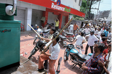 Protests against retail chains (Credit: MANIK BOSE)