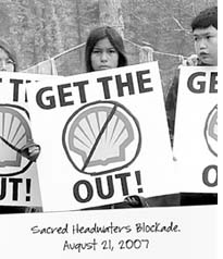 Protest against Shell in Canada
