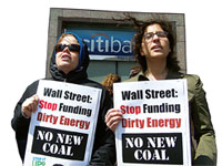 US banks under fire for investing in coal