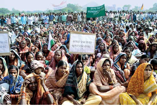 30,000 farmers demand Hirakud dam water