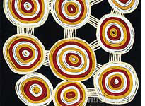 Aboriginal artwork on display in National Museum of Australia