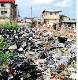 Nigerian cities: A dumping gro (Credit: BASEL ACTION NETWORK)