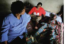 A health worker visits a TB pa (Credit: REUTERS)