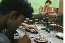 Glittering threat: Most artisa