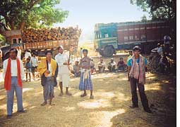 Tribals block Vedanta earthmovers