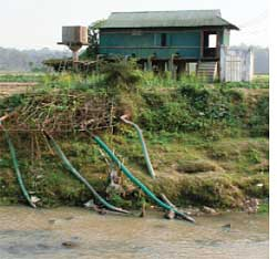 One river dried, Agartala eyes another