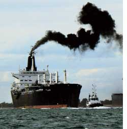 Ships contribute to warming