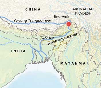 Landslide dams Tsangpo river