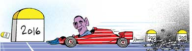 Obama steps on accelerator