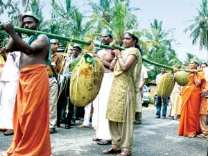Jackfruit brought in ceremonial procession (Credit: SHREE PADRE)