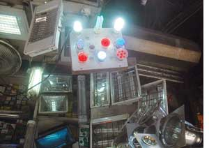 LED bulbs at a hardware shop. They are used as party decoration (Credit: AGNIMIRH BASU)