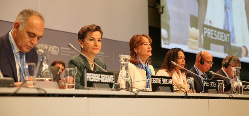 UNFCCC Executive Secretary Christina Figueres said the time had come to go beyond concepts and theories and turn the agreement into reality (Photo courtesy: iisd.ca)