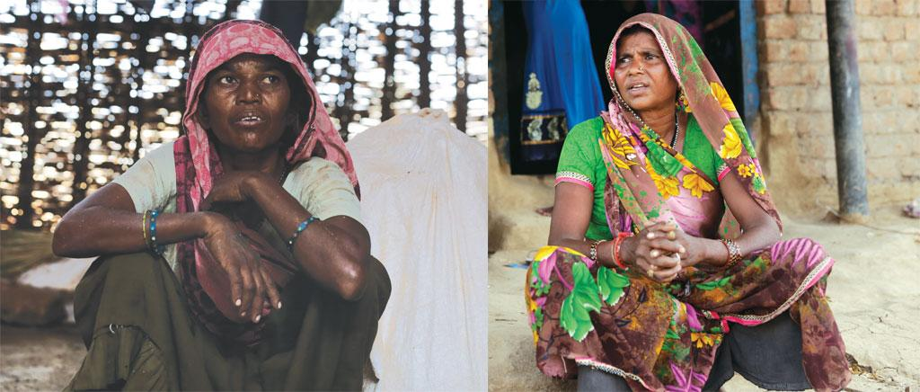 Both Tejli Bai (left) and Dhuli Bai (below) have been tricked into giving up ownership rights over their land. While 60-year-old Tejli Bai says she still does not know how the government land records were changed, Dhuli Bai says that a crook tricked he