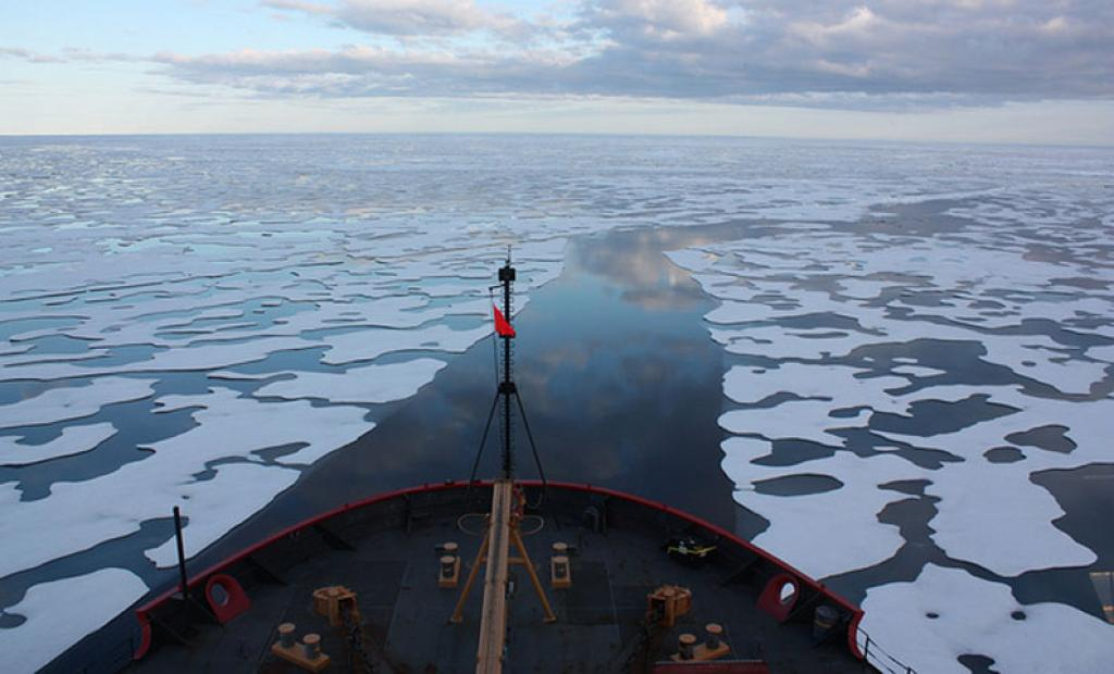 """The Arctic ice is rapidly breaking up, suggesting an emergence of """"unusually thin"""" sea ice covers. (Credit: NASA)"""