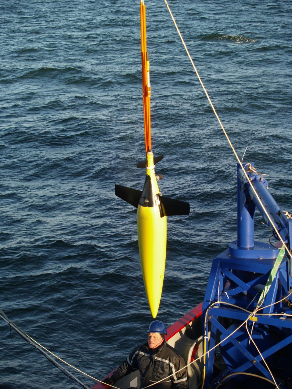 The scientists will release seven underwater robots to measure ocean properties such as temperature, salinity and current  Credit: UEA