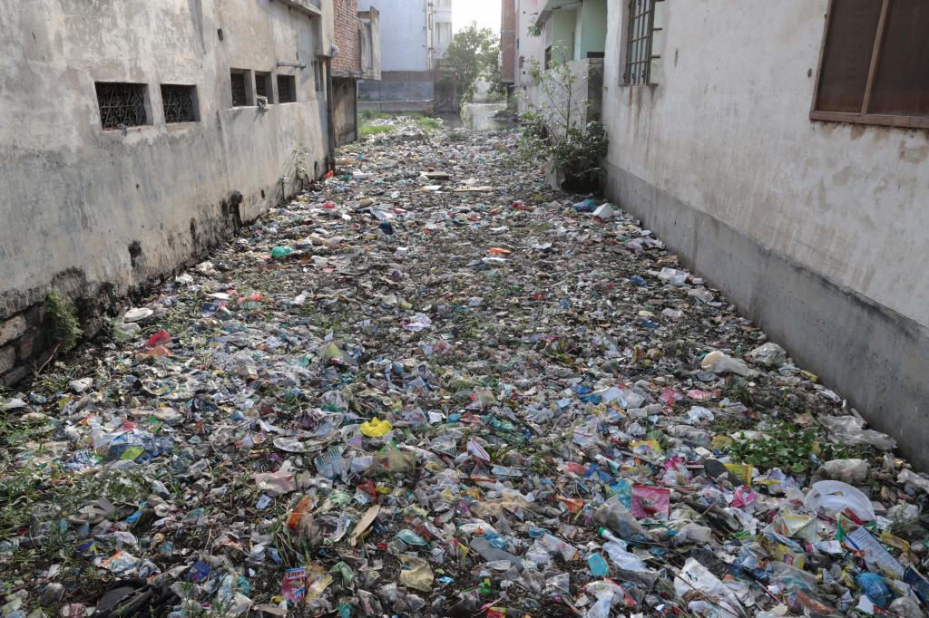 The urbanisation of the area has made the Saraswati river a garbage dump yard. Photo for representational purpose only. 