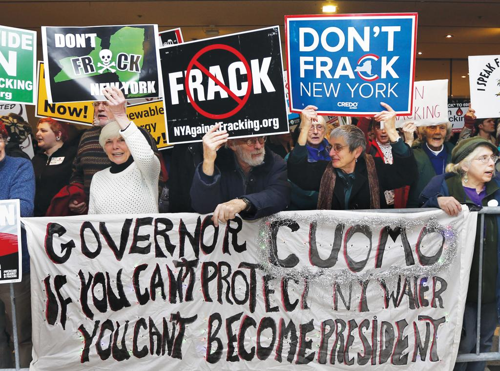 There have been public protests against fracking in many countries