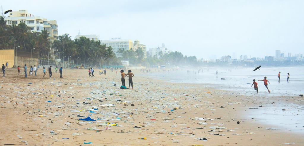 The proposed road will go over the areas used for drying fish in Moragaon near Juhu (Photo: Samrat Mukharjee)