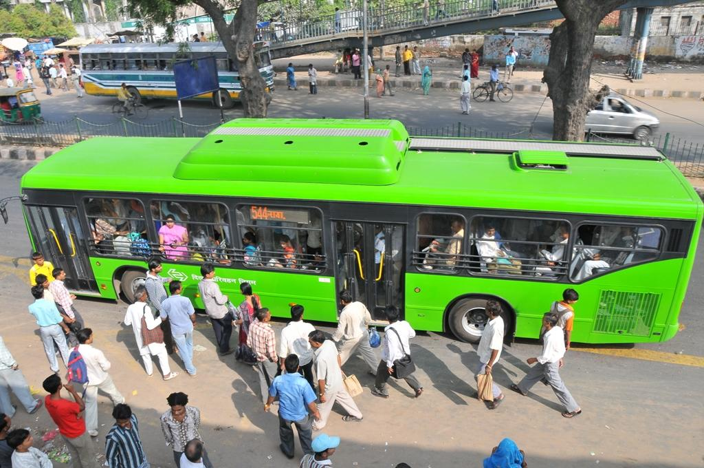 More than 60 per cent of rural and urban households use the bus/tram as their main mode of public transportation (Photo: Meeta Ahlawat)