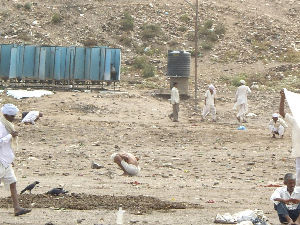 About 52.1 per cent of people in rural India still choose open defecation Credit: SuSanA Secretariat/ Flicker