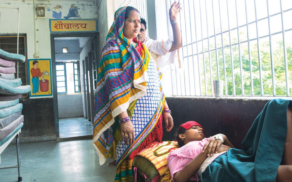 A patient afflicted by the kala-azar infection. It has been observed that nearly all drugs administered to treat kala-azar are leading to complications (Photo: Srikant Choudhary)