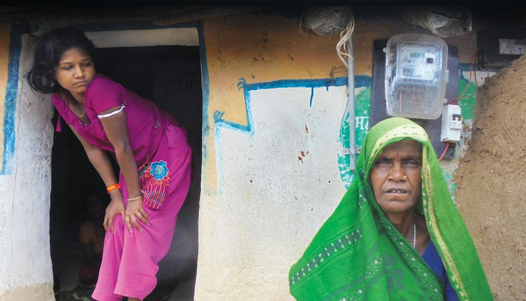 Halki Bai's house in Mahuadol village of Madhya Pradesh has a meter but no electricity. She was asked for a bribe for the connection, which she refused to pay (Photo: Kundan Pandey)